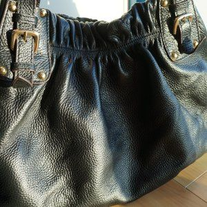 Medium Tote Black Bag in Very Soft Leather